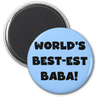 Black Text Best-est Baba T-shirts and Gifts Magnet