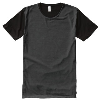 black text + black background All-Over print T-Shirt