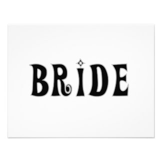 Black Text Bride Tshirts and Gifts Invites
