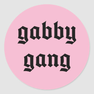 Black Text Gabby Gang Stickers