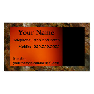 Black Text On An Orange Background Pack Of Standard Business Cards