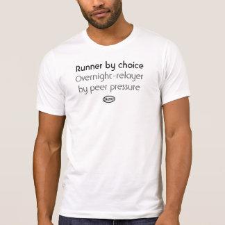 Black text: Peer pressure (overnight relay) T-Shirt