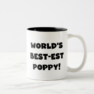 Black Text World's Best-est Poppy Gifts Two-Tone Mug
