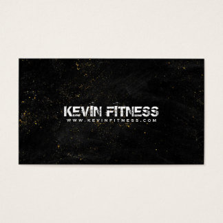 Black Texture Gold Sparkles Fitness Design Business Card