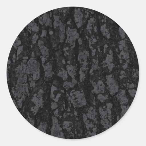 BLACK TEXTURE GROUND BACKGROUND TEMPLATE PATTERN ROUND STICKER