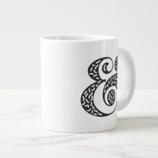 black textured ampersand large coffee mug