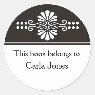 Black This Book Belongs To Labels