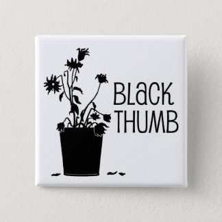 Black Thumb 15 Cm Square Badge