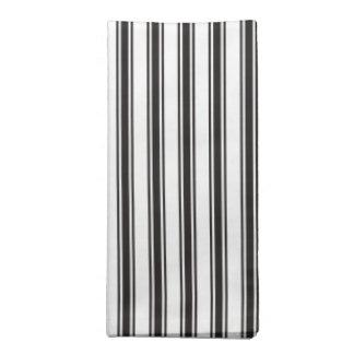 Black Ticking Stripe Pattern Napkin