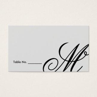 Black Tie | Black White | Escort Card