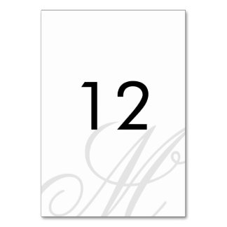 Black Tie | Black White | Table Number Table Card