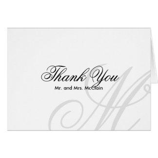Black Tie | Black White | Thank You Card