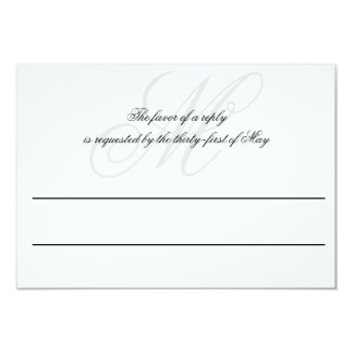 Black Tie | Black White | Wedding RSVP Card