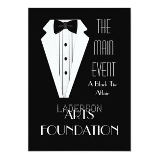 Black Tie Formal Event 13 Cm X 18 Cm Invitation Card