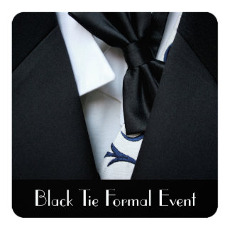Black Tie Formal Event Party Invitation