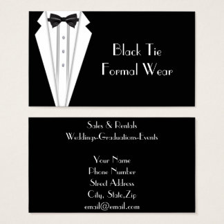 Black Tie Formal  Tuxedo Business Business Card
