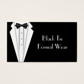 Black Tie Formal White Tuxedo Business Business Card