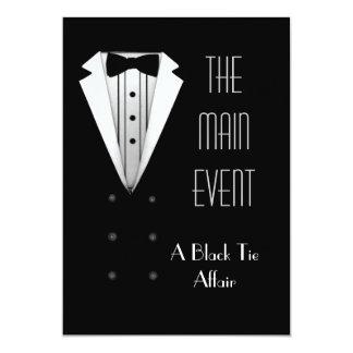 Black Tie Tuxedo 13 Cm X 18 Cm Invitation Card