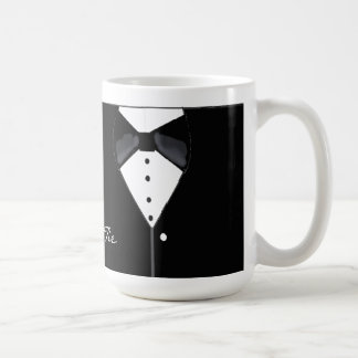 Black Tie Tuxedo Design Coffee Mug