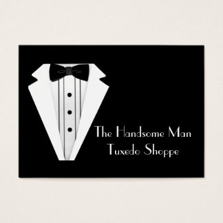 Black Tie Tuxedo Mens Store Business Card