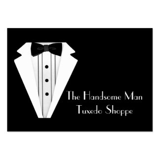 Black Tie Tuxedo Mens Store Pack Of Chubby Business Cards