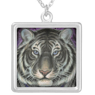 Black Tiger Portrait Necklace