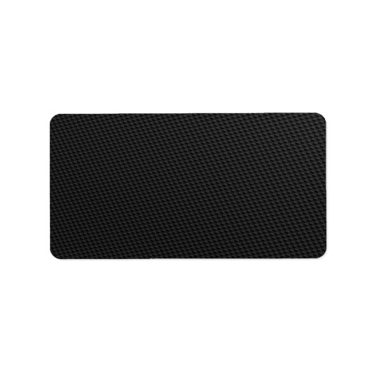 Black Tightly Woven Carbon Fibre Textured Address Label