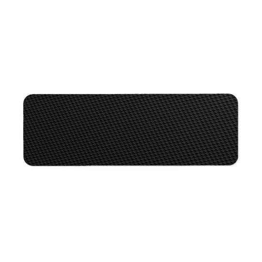 Black Tightly Woven Carbon Fibre Textured Return Address Label