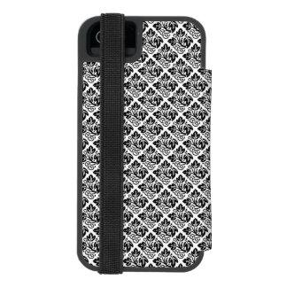 Black Tiled Oak Leaf Pattern. Incipio Watson™ iPhone 5 Wallet Case