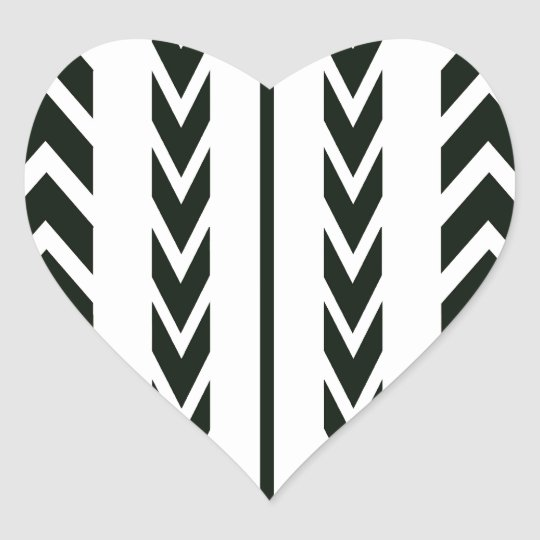 Black Tire Tread Heart Sticker