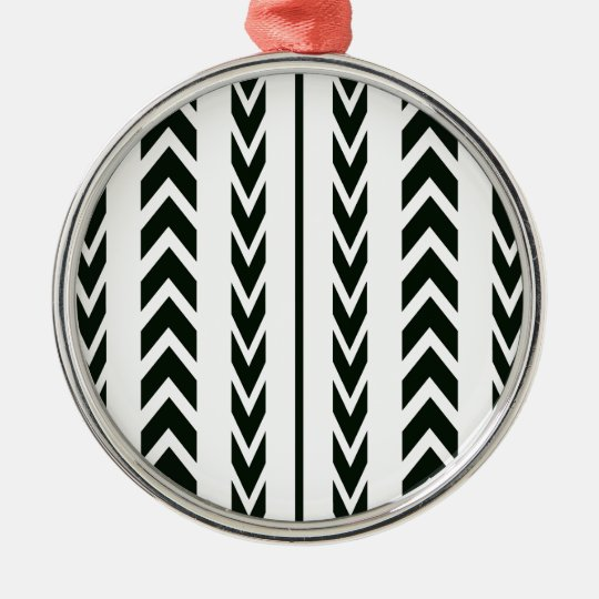 Black Tire Tread Metal Ornament