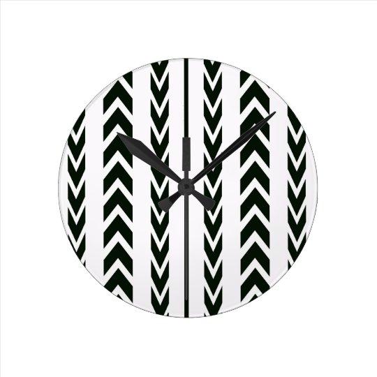 Black Tire Tread Round Clock