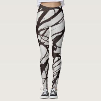 black to water color leggings