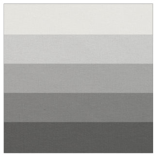 Black to White Ombre Stripes Fabric