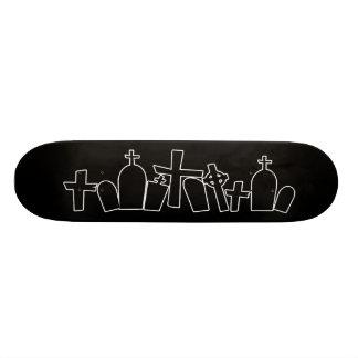 Black Tombs spooky figure Custom Skate Board