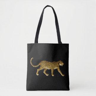 Black tote bag with Cheetah