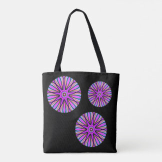 Black tote with colorful mandala
