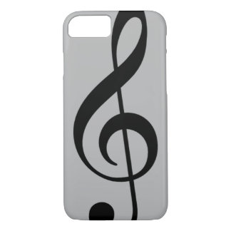 black treble clef musical note iPhone 7 case