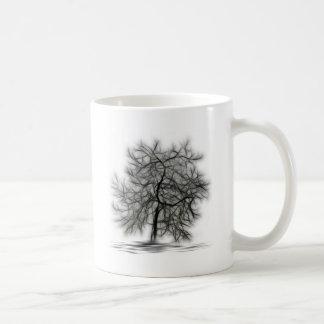 Black Tree on white background Mug