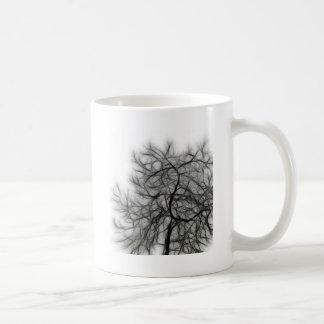 Black Tree on white background Mugs