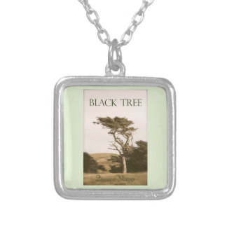 Black Tree Silver Plated Necklace