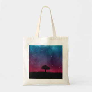 Black Tree Space Galaxy Cosmos Blue Pink Scenery