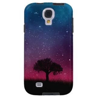 Black Tree Space Galaxy Cosmos Blue Pink Sky Galaxy S4 Case