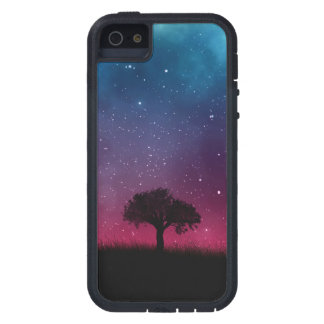 Black Tree Space Galaxy Cosmos Blue Pink Sky iPhone 5 Covers