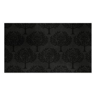 Black Trees on Dark Background Pack Of Standard Business Cards
