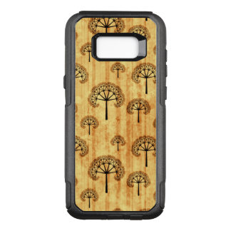 Black Trees Pattern on Aged Vintage Paper OtterBox Commuter Samsung Galaxy S8+ Case