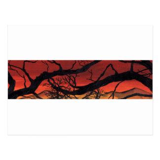 Black Trees Postcard