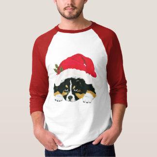 Black Tri Aussie Christmas Puppy T-Shirt