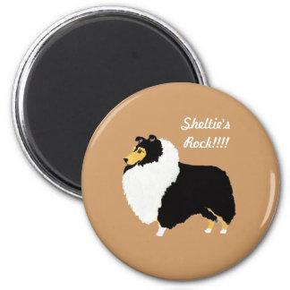 Black Tri Shetland Sheepdogs Rock!!! Magnet