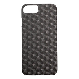Black triangle polygonal pattern background iPhone 7 case